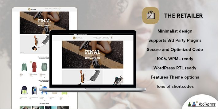 The Retailer - eCommerce WordPress Themes for Beginners