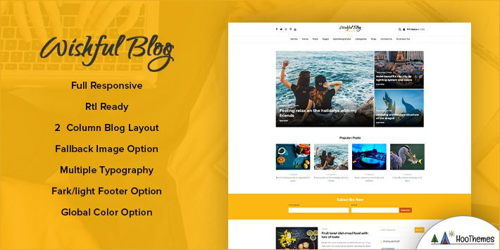 Wishful Blog WordPress Theme for Blogging