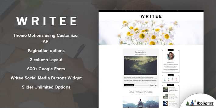 Writee Free WordPress Blog Theme