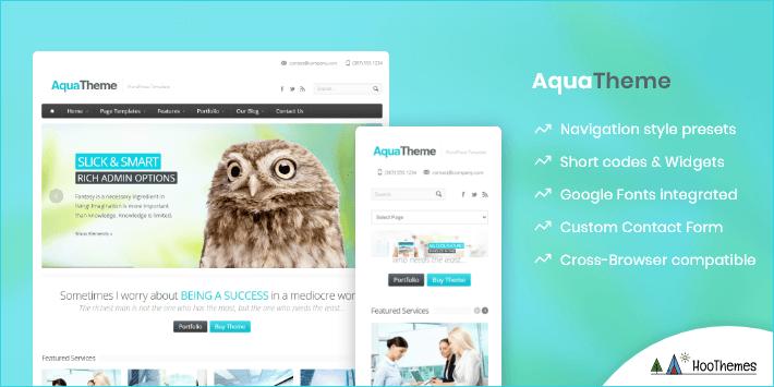 Aqua Customizable WP Theme