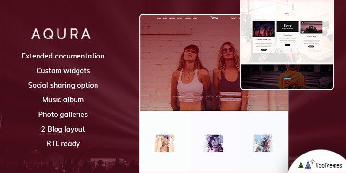 AQURA - Musicians WordPress Theme for Musicians