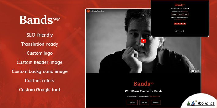Bands WordPress Themes for Musicians