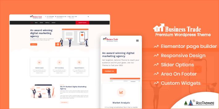 Business Trade Customizable WordPress Theme