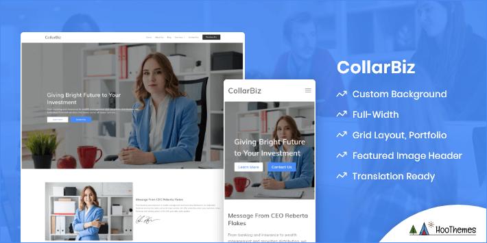 CollarBiz Customizable WordPress Theme
