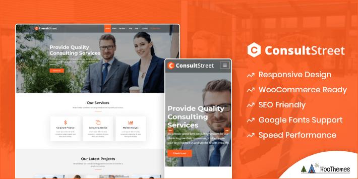 ConsultStreet Customizable WordPress Theme