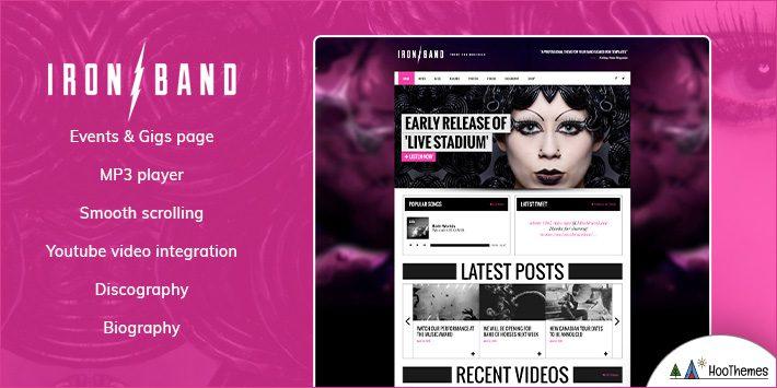 IronBand - Music Band & DJ WordPress Theme
