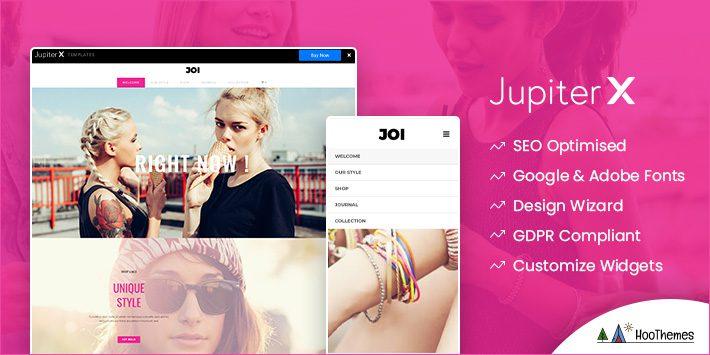 Jupiter Customizable WordPress Theme
