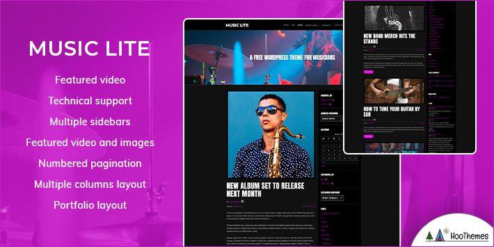 Music Lite WordPress Themes for Musicians