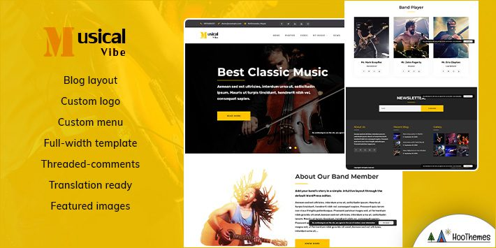 Musical Vibe WordPress Themes for Musicians
