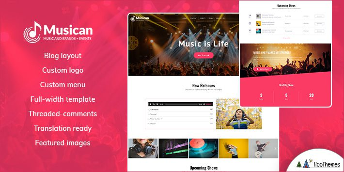 Musican WordPress Themes for Musicians