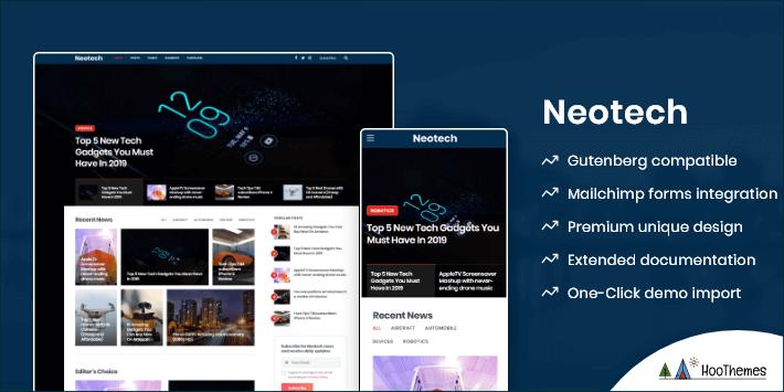 Neotech Customizable WordPress Theme