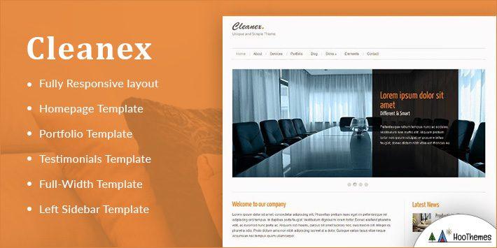 Cleanex Minimalist WordPress Themes