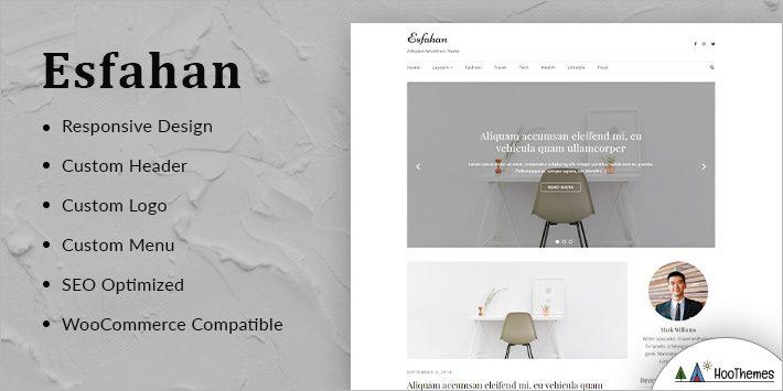 Esfahan Minimalist WordPress Themes