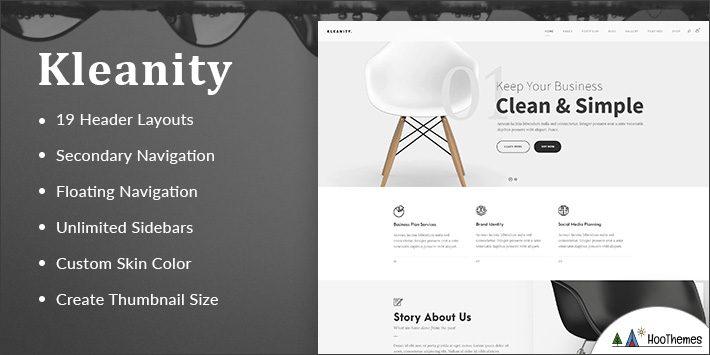Kleanity Minimalist WordPress Themes