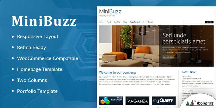 MiniBuzz Minimalist WordPress Themes
