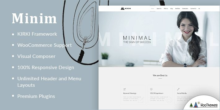 Minim Minimalist WordPress Themes