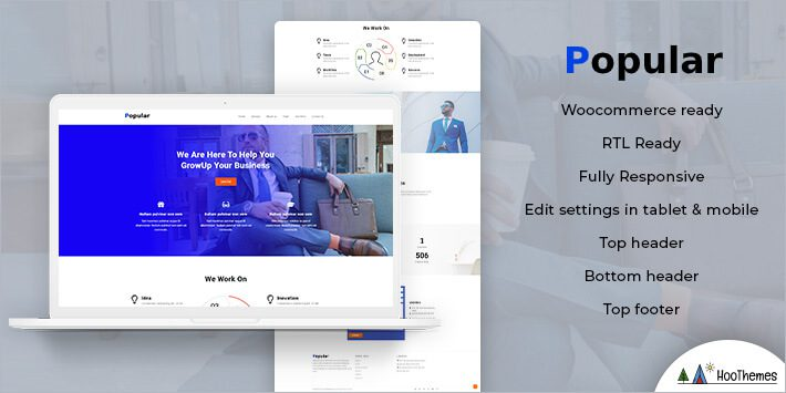 Popular Business WordPress Theme