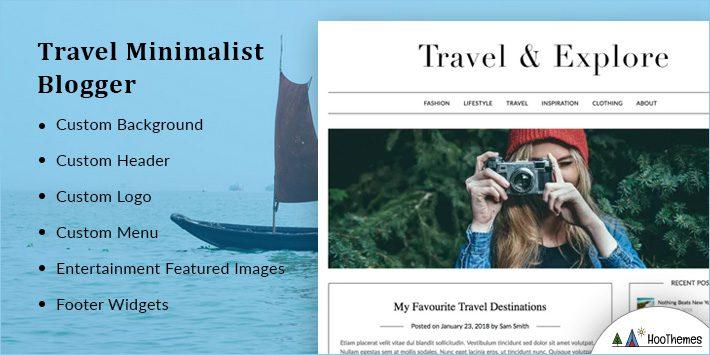 Travel Minimalist Blogger WordPress Themes