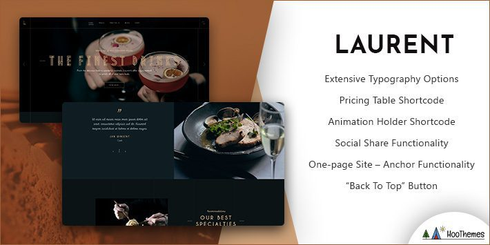 Laurent Restaurant WordPress Theme