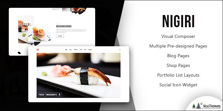 Nigiri Restaurant WordPress Theme