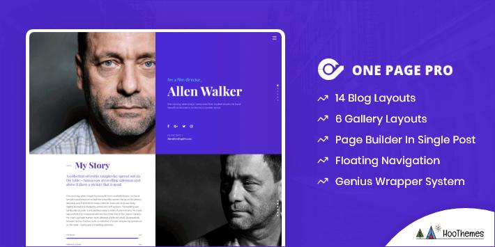One Page Pro Single Page WordPress Theme