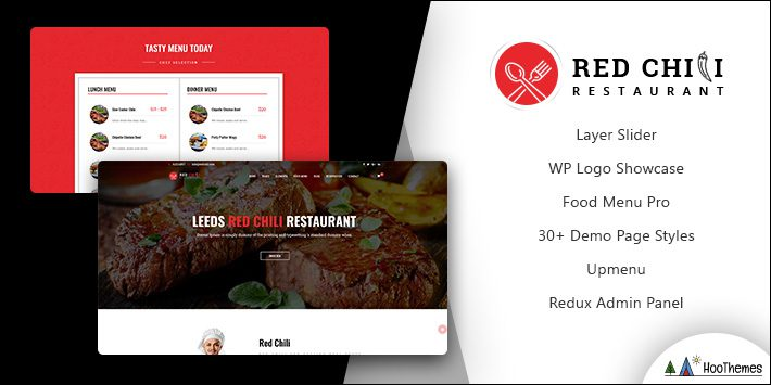 RedChili Restaurant WordPress Theme