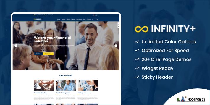 Unfinity Single Page WordPress Themes