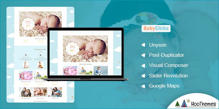 BabyClicks Photography WordPress Theme
