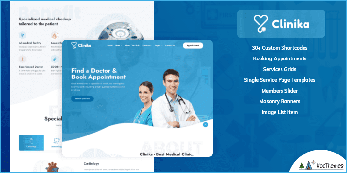 Clinika Medical and Health WordPress Theme