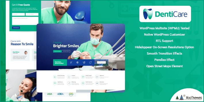 DentiCare Medical and Health WordPress Theme