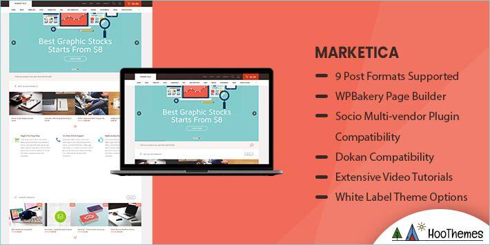 Marketica Marketplace WordPress Theme