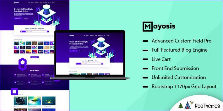 Mayosis Marketplace WordPress Theme
