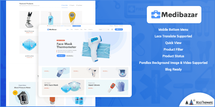 Medibazar Medical and Health WordPress Theme