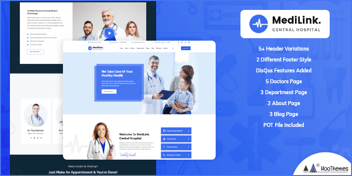 Medilink Medical and Health WordPress Theme