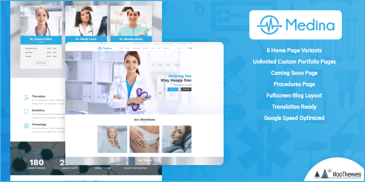 Medina Medical and Health WordPress Theme