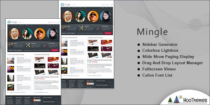 Mingle WordPress BuddyPress Theme