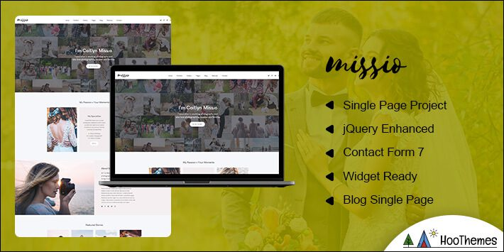 Missio Photography WordPress Theme