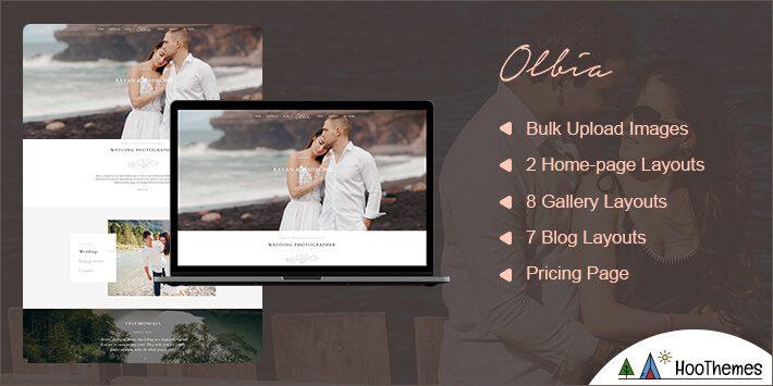 Olbia Photography WordPress Theme