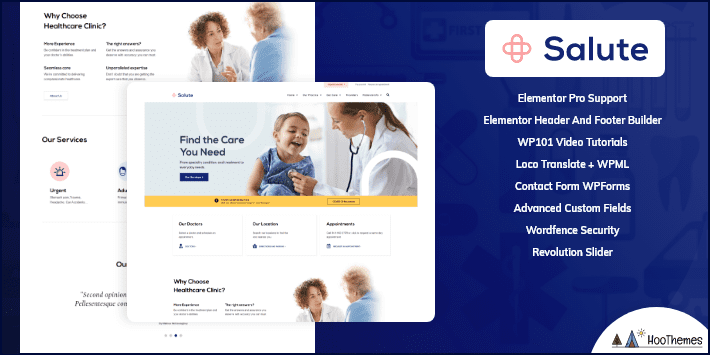 Salute Medical Medical and Health WordPress Theme