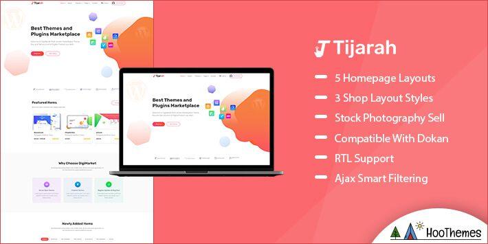 Tijarah Marketplace WordPress Theme