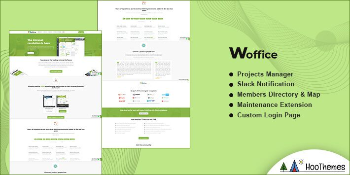 Woffice WordPress BuddyPress Theme