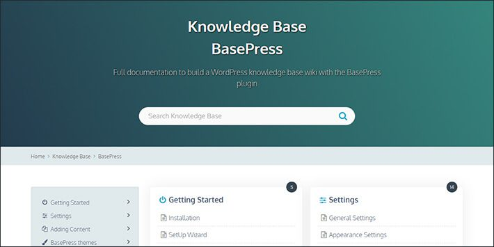 BasePress Knowledge Base WordPress Plugin