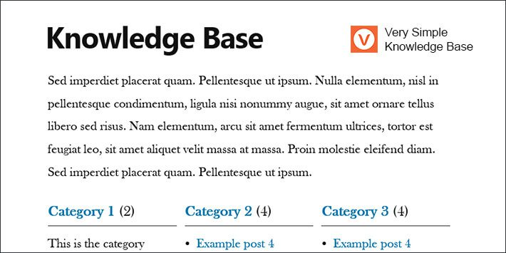 Very Simple Knowledge Base WordPress Plugin
