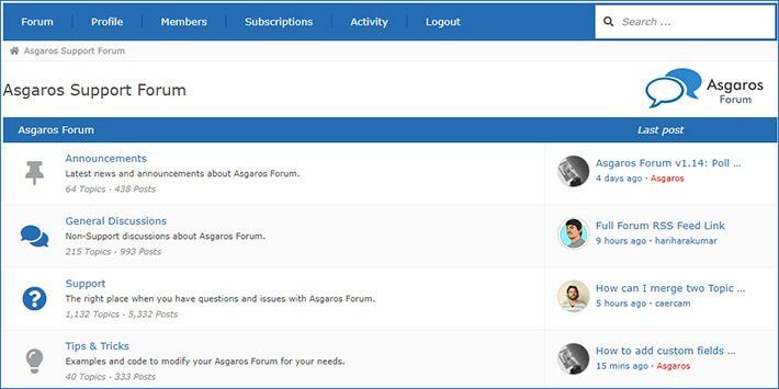 Asgaros Forum WordPress Forum Plugin