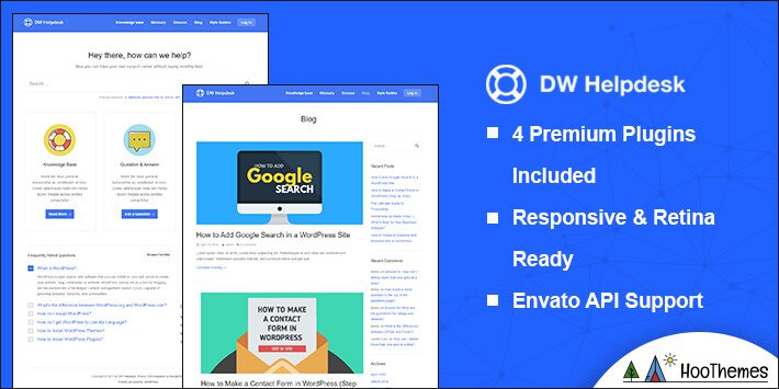 DW Helpdesk WordPress Theme