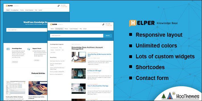 Helper Helpdesk WordPress Theme