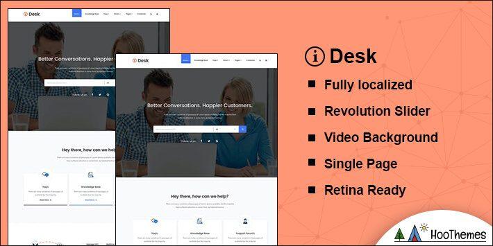 iDesk Helpdesk WordPress Theme