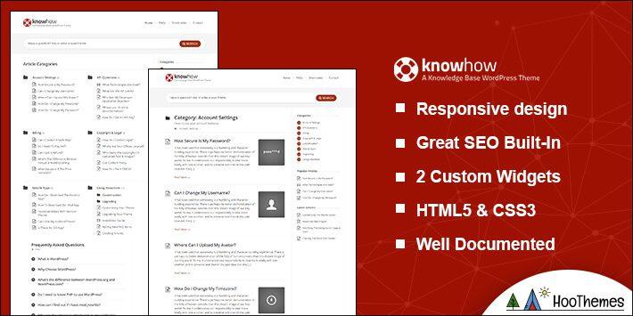 KnowHow Helpdesk WordPress Theme