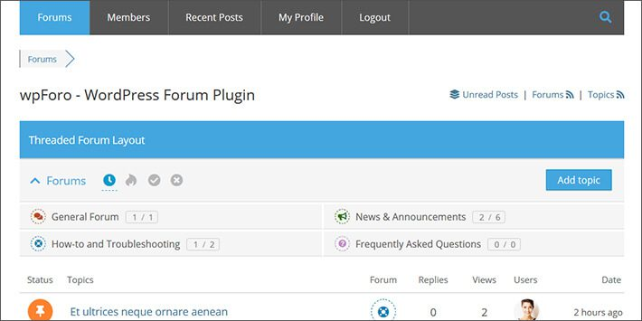 wpForo Forum WordPress Forum Plugin
